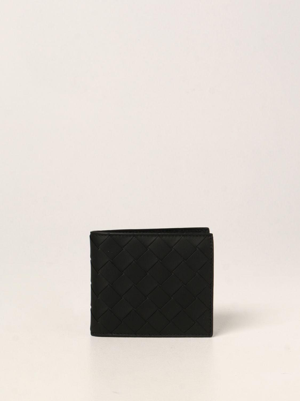 Wallet Bottega Veneta: Bottega Veneta wallet in woven leather 1.5 black 1