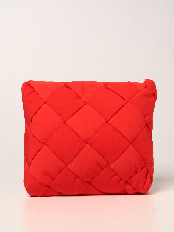 Portadocumenti Bottega Veneta: Porta documenti Cassette Bottega Veneta in nylon intrecciato rosso 1