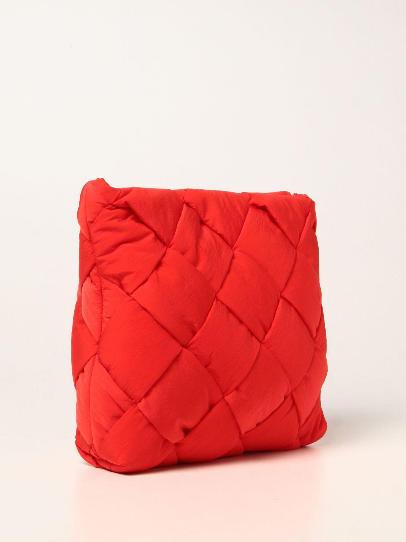 Portadocumenti Bottega Veneta: Porta documenti Cassette Bottega Veneta in nylon intrecciato rosso 3