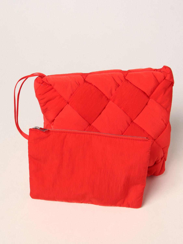 Portadocumenti Bottega Veneta: Porta documenti Cassette Bottega Veneta in nylon intrecciato rosso 4