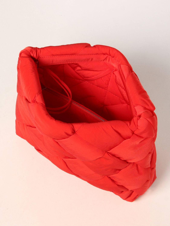 Portadocumenti Bottega Veneta: Porta documenti Cassette Bottega Veneta in nylon intrecciato rosso 5