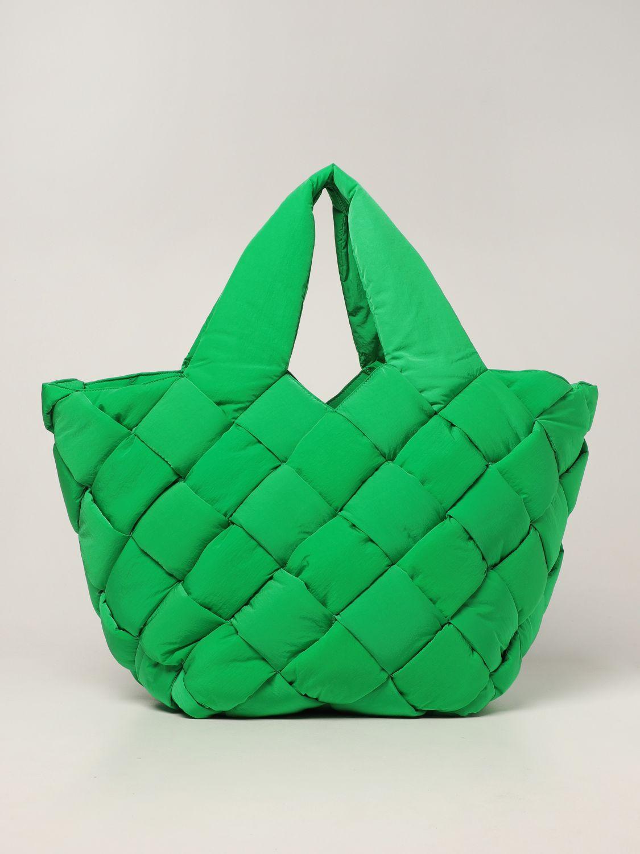 Borsa Bottega Veneta: Borsa Cassette Bottega Veneta in nylon intrecciato verde 1
