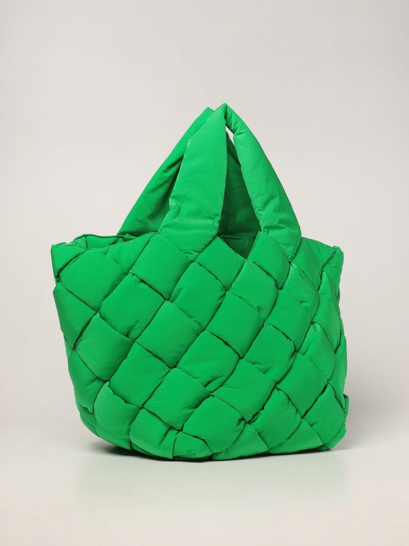 Borsa Bottega Veneta: Borsa Cassette Bottega Veneta in nylon intrecciato verde 2