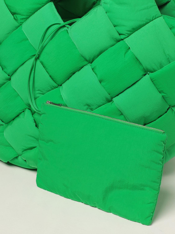 Borsa Bottega Veneta: Borsa Cassette Bottega Veneta in nylon intrecciato verde 3