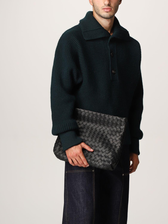 Briefcase Bottega Veneta: Bottega Veneta document holder in woven leather black 2