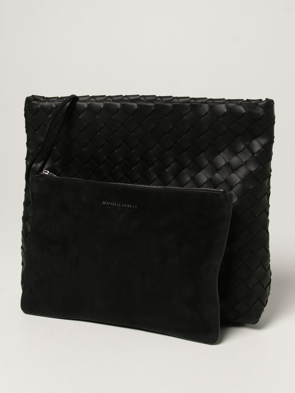 Briefcase Bottega Veneta: Bottega Veneta document holder in woven leather black 4