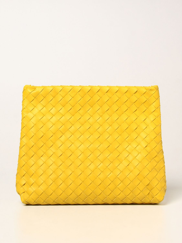 Portadocumenti Bottega Veneta: Porta documenti Bottega Veneta in pelle intrecciata giallo 1