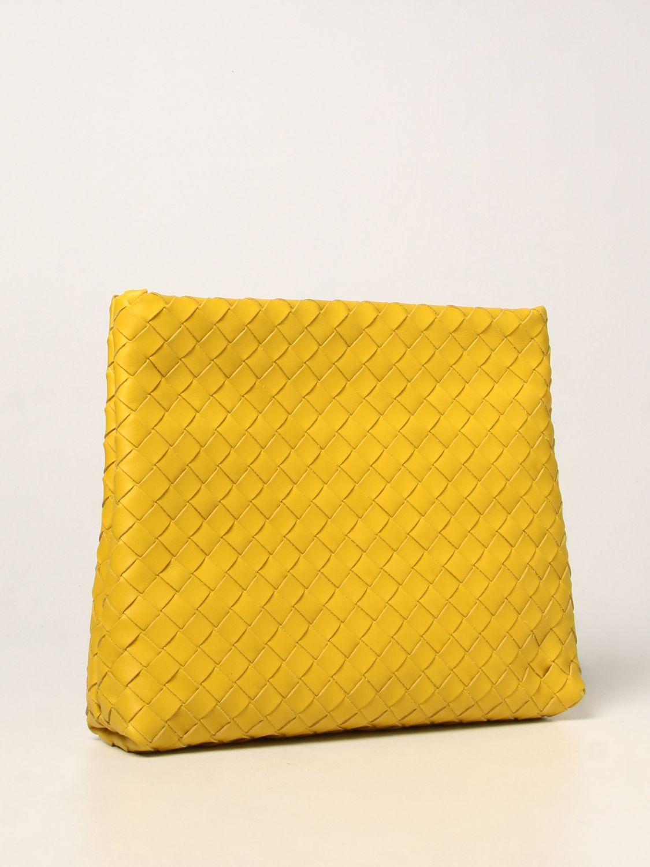 Portadocumenti Bottega Veneta: Porta documenti Bottega Veneta in pelle intrecciata giallo 3