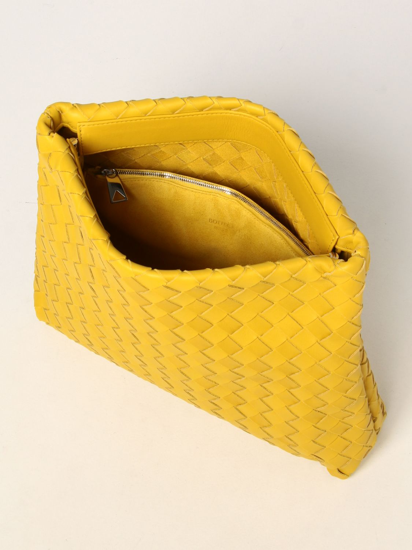 Portadocumenti Bottega Veneta: Porta documenti Bottega Veneta in pelle intrecciata giallo 5