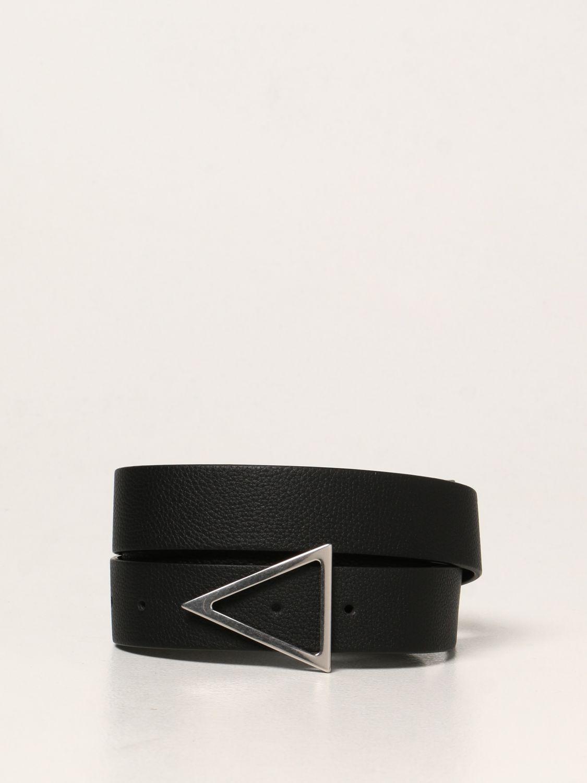 Belt Bottega Veneta: Bottega Veneta triangular leather belt black 1