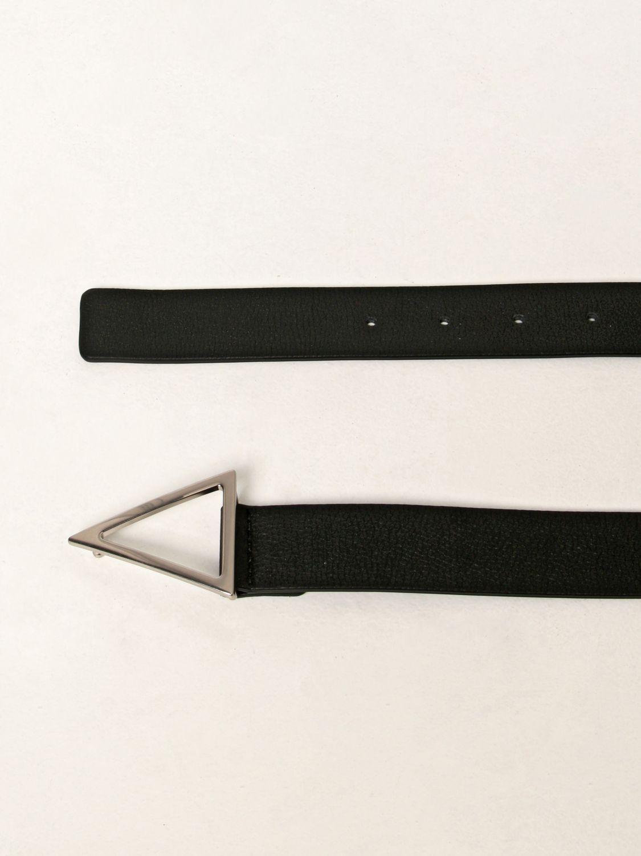 Belt Bottega Veneta: Bottega Veneta triangular leather belt black 2