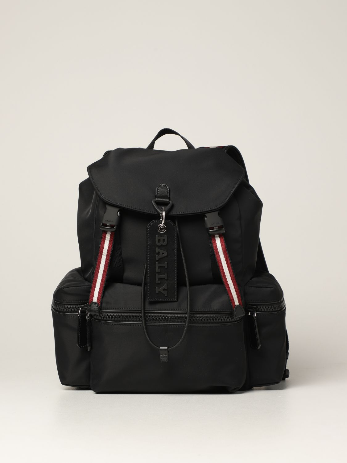 Backpack Bally: Crew Bally backpack in nylon with stripes black 1