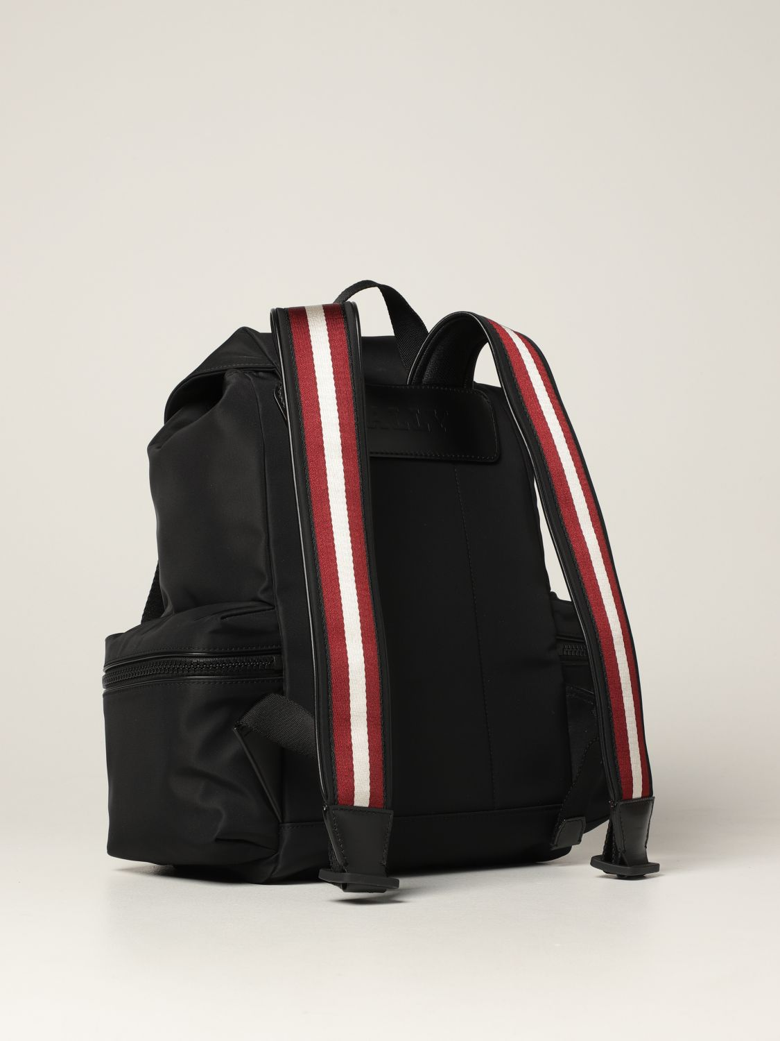 Backpack Bally: Crew Bally backpack in nylon with stripes black 3