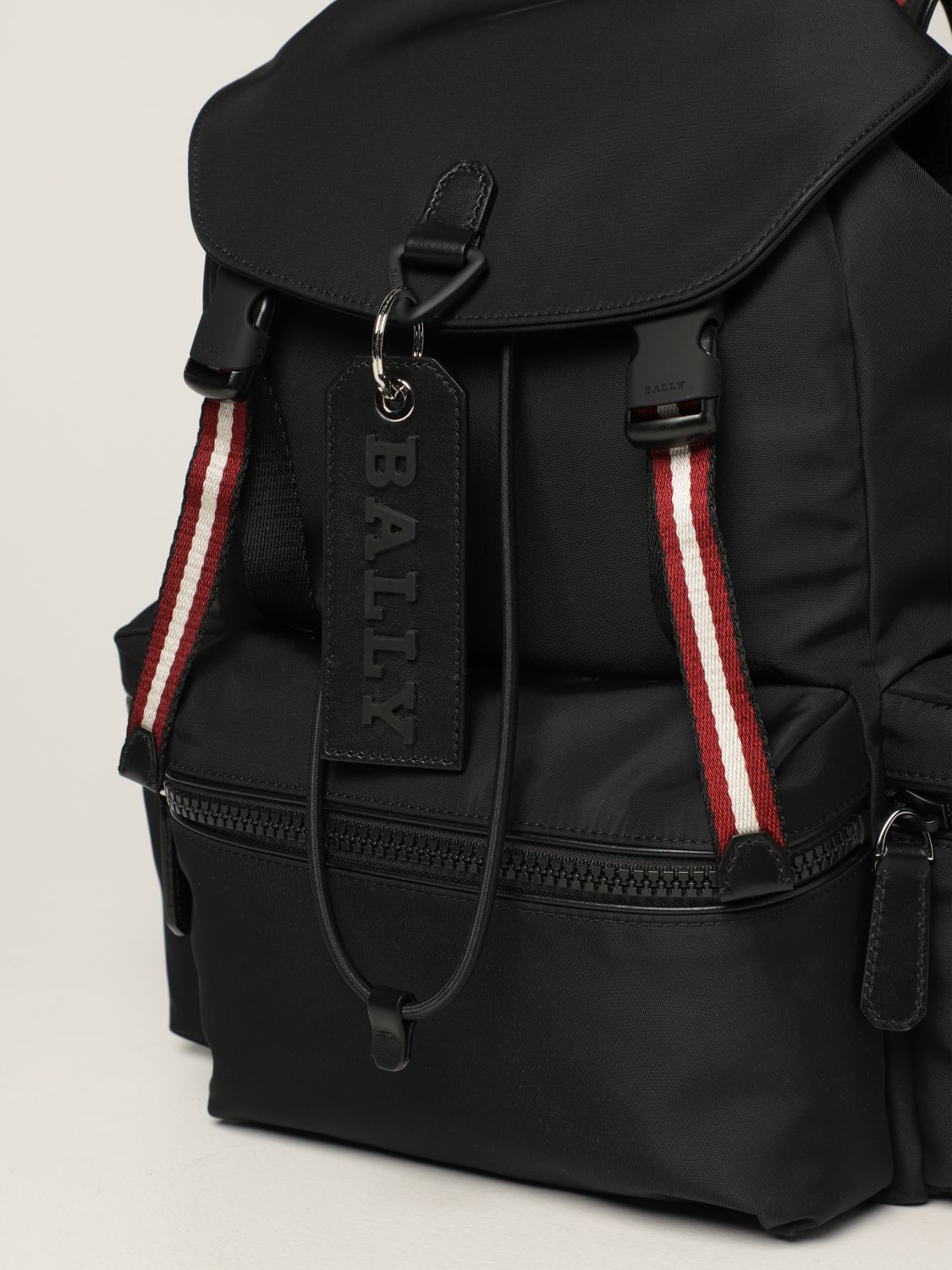 Backpack Bally: Crew Bally backpack in nylon with stripes black 4