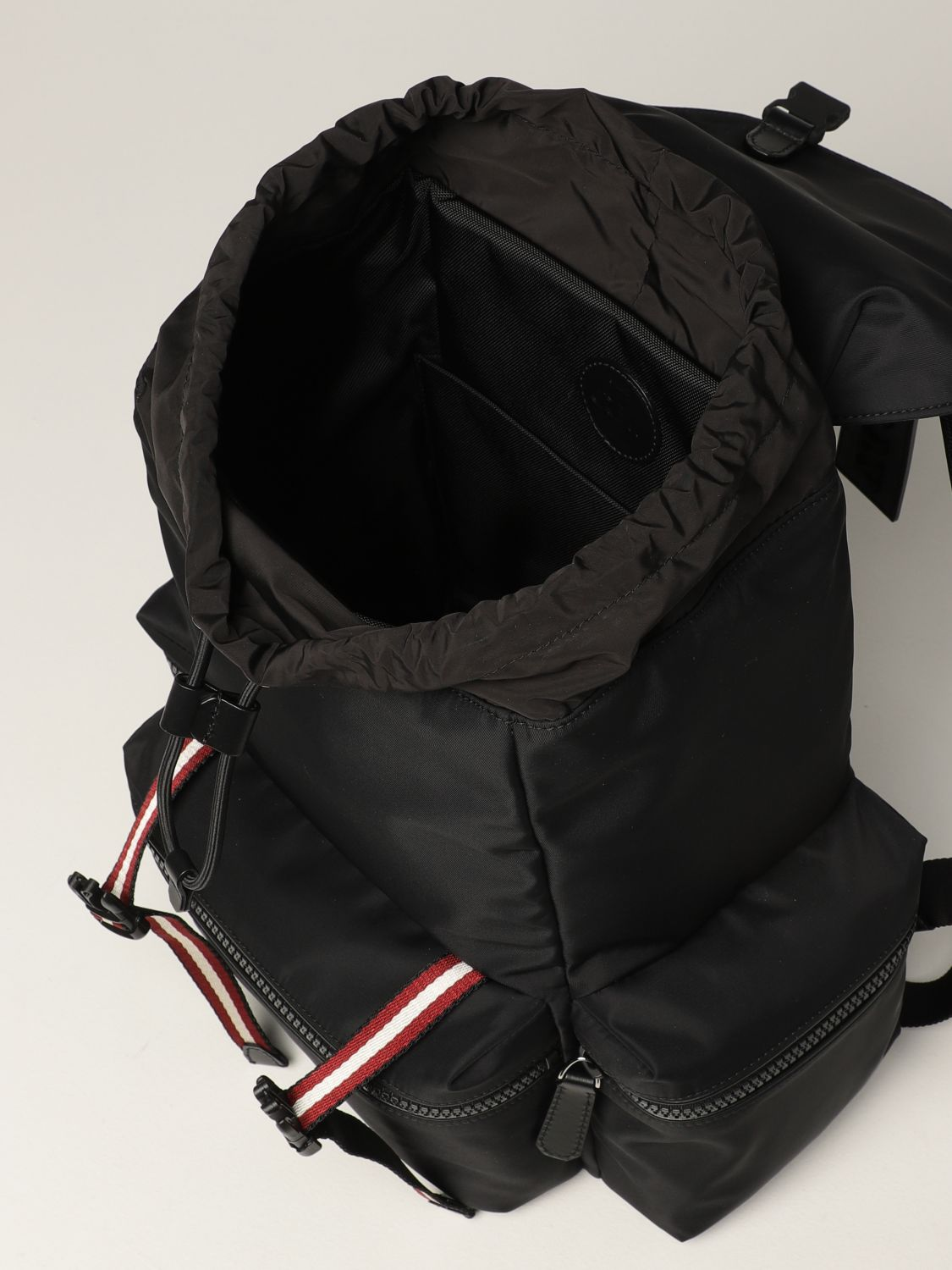 Backpack Bally: Crew Bally backpack in nylon with stripes black 5