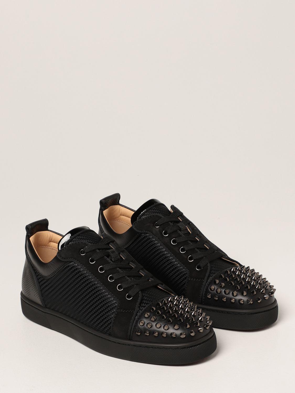 Sneakers Christian Louboutin: Sneakers Louis Junior Spikes Orlato Christian Louboutin in pelle con borchie nero 2