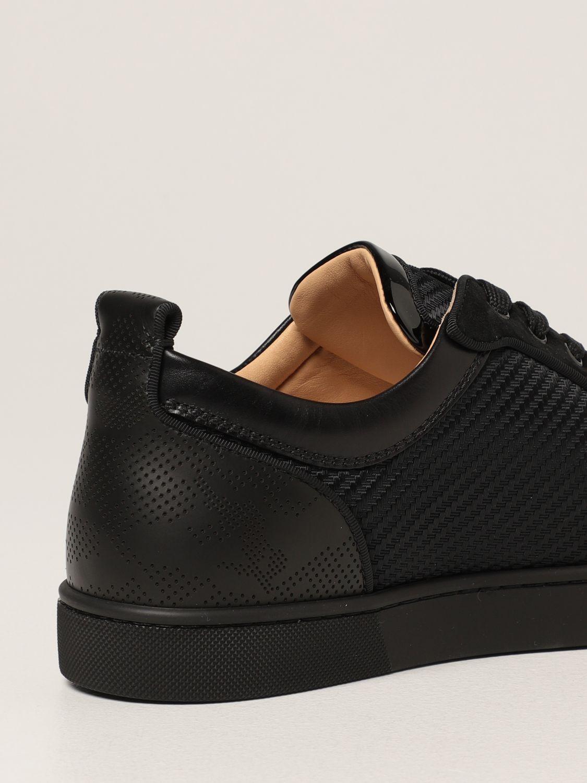Sneakers Christian Louboutin: Sneakers Louis Junior Spikes Orlato Christian Louboutin in pelle con borchie nero 3