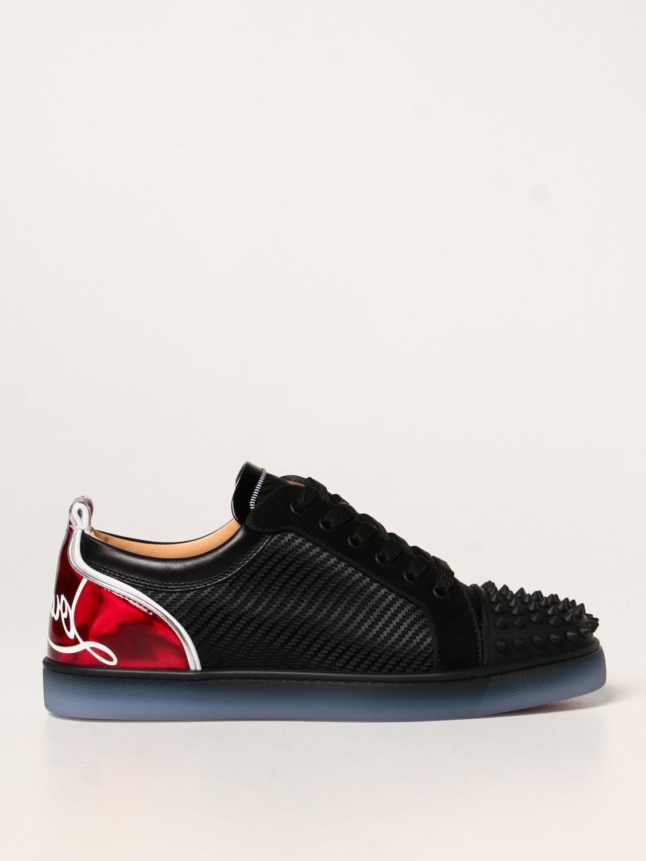 Sneakers Christian Louboutin: Sneakers Fun Viera Christian Louboutin in tessuto nero 1