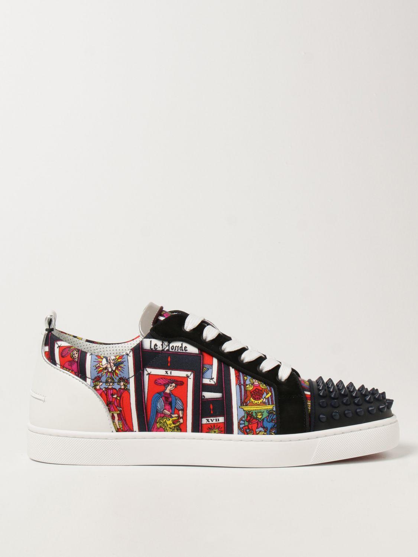 Sneakers Christian Louboutin: Sneakers Louis Junior Spikes Orlato Christian Louboutin nero 1