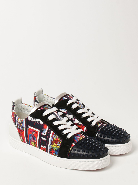 Sneakers Christian Louboutin: Sneakers Louis Junior Spikes Orlato Christian Louboutin nero 2