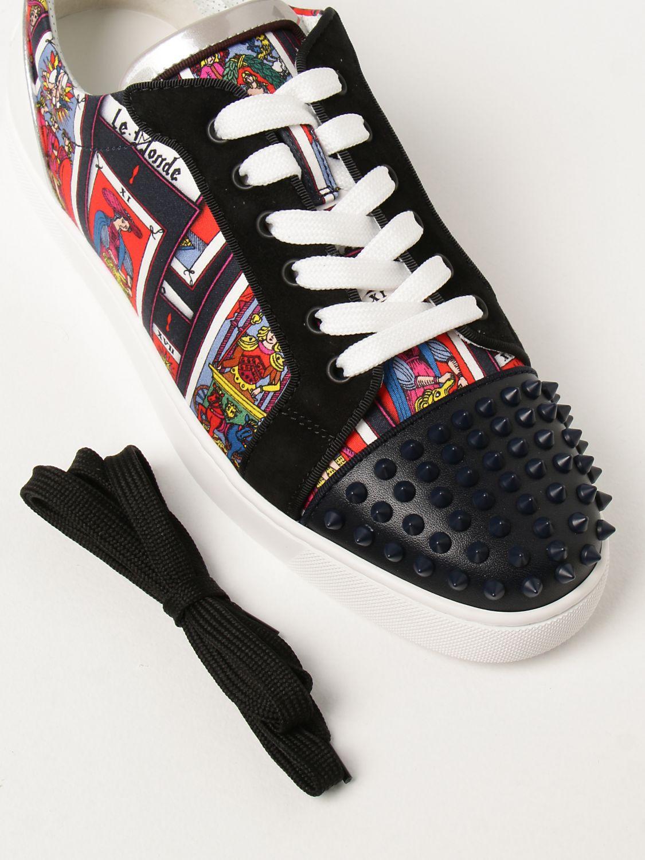 Sneakers Christian Louboutin: Sneakers Louis Junior Spikes Orlato Christian Louboutin nero 4