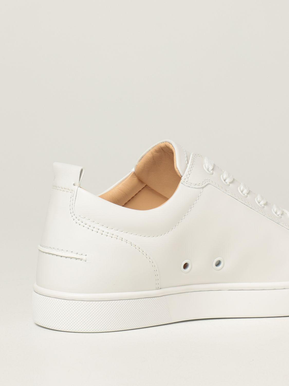 Sneakers Christian Louboutin: Sneakers Louis Junior Christian Louboutin in pelle con borchie bianco 3