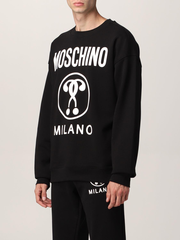 Sudadera Moschino Couture: Sudadera hombre Moschino Couture negro 1 4