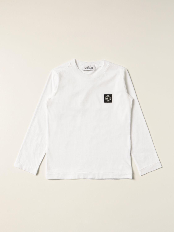 T-shirt Stone Island Junior: T-shirt Stone Island Junior con logo bianco 1