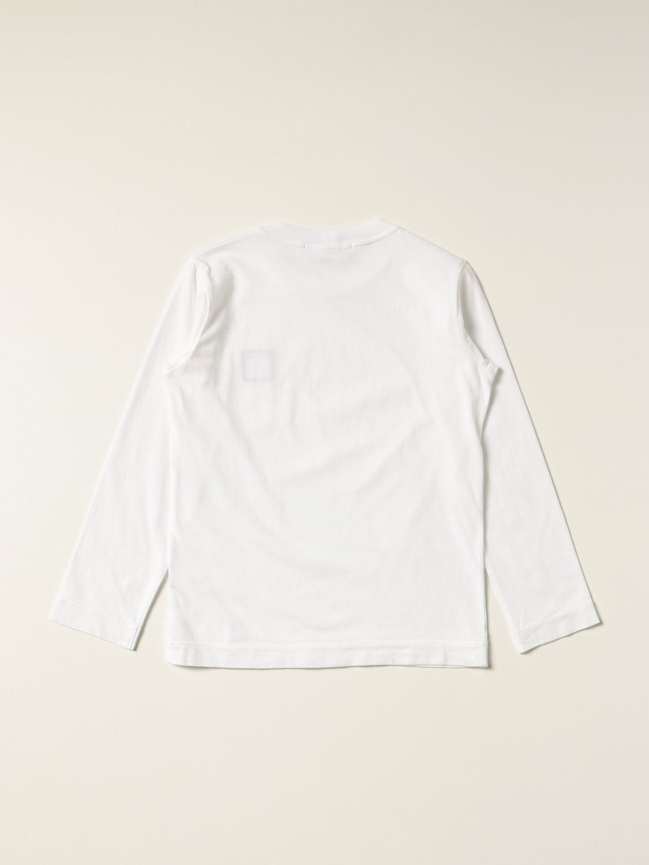 T-shirt Stone Island Junior: T-shirt Stone Island Junior con logo bianco 2
