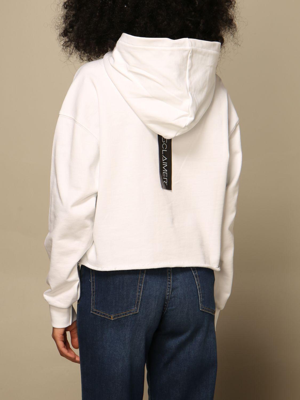 Sweat-shirt Disclaimer: Sweat-shirt femme Dislaimer blanc 2