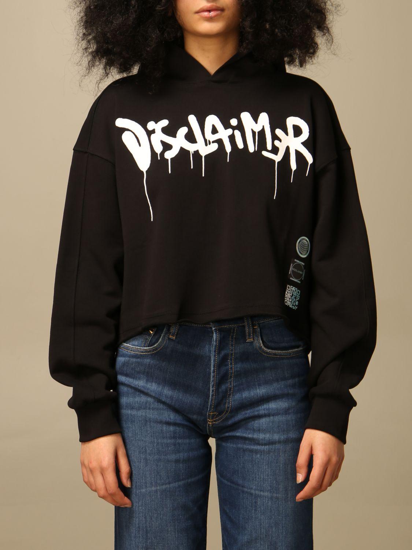 Sweatshirt Disclaimer: Sweatshirt women Dislaimer black 1