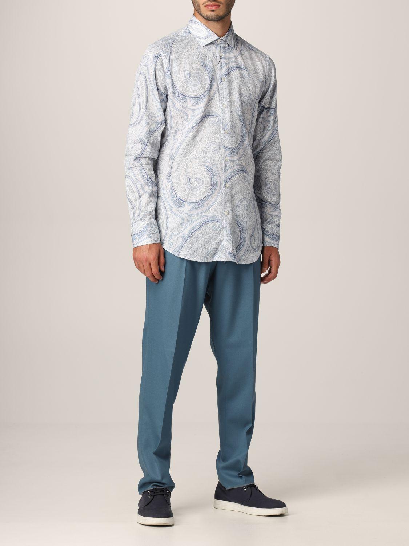 Camisa Etro: Camisa hombre Etro azul claro 2