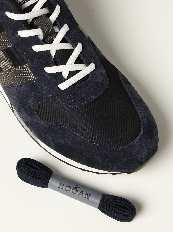 HOGAN: H383 sneakers in fabric and suede | Sneakers Hogan Men Blue ...