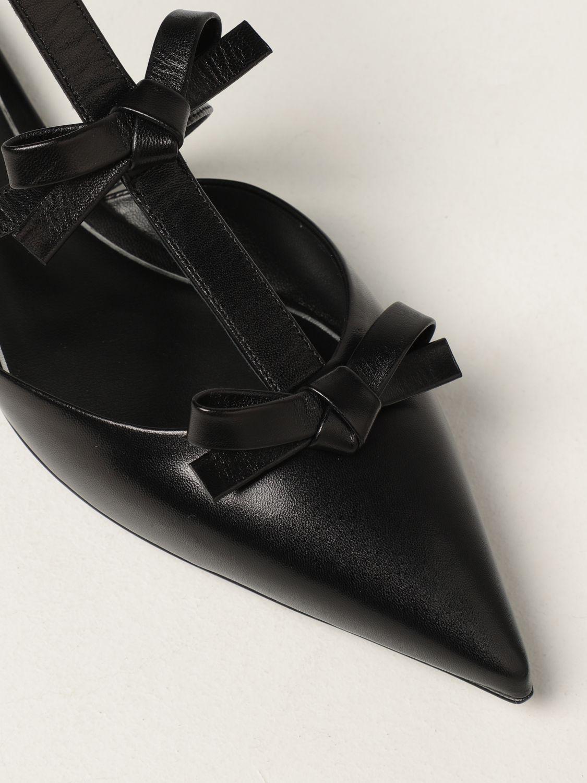 Ballerine Valentino Garavani: Ballerina Valentino Garavani in pelle con fiocchi nero 4