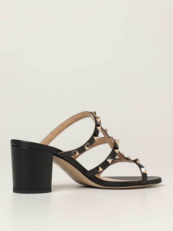 Scarpe con tacco Valentino Garavani: Sandalo slider Rockstud Valentino Garavani in pelle con borchie nero 3