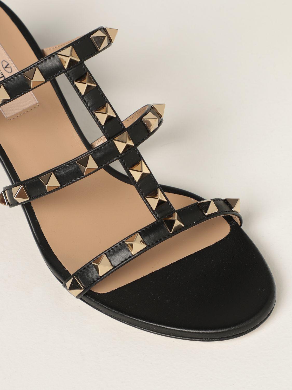 Scarpe con tacco Valentino Garavani: Sandalo slider Rockstud Valentino Garavani in pelle con borchie nero 4