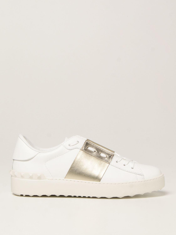 Sneakers Valentino Garavani: Sneakers Open Valentino Garavani in pelle bianco 1