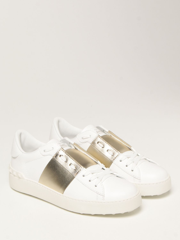 Sneakers Valentino Garavani: Sneakers Open Valentino Garavani in pelle bianco 2
