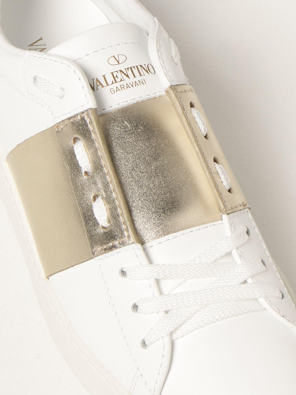 Sneakers Valentino Garavani: Sneakers Open Valentino Garavani in pelle bianco 4