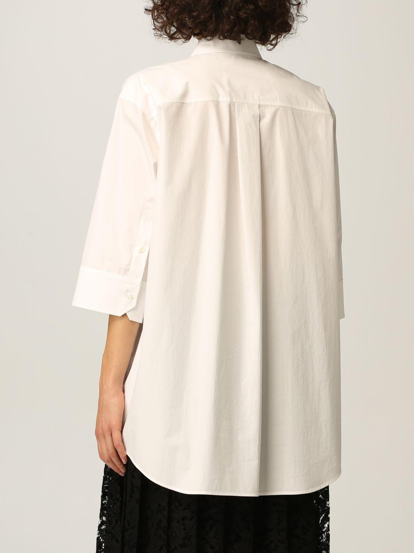 Camicia Valentino: Camicia Valentino in popeline di cotone e pizzo bianco 3