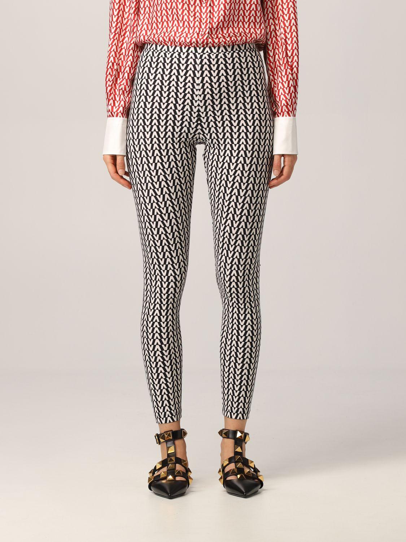 Pantalone Valentino: Leggings Valentino con stampa optical nero 1