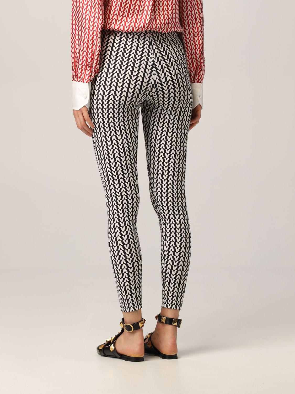 Pantalone Valentino: Leggings Valentino con stampa optical nero 3