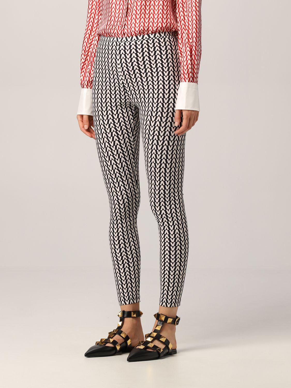 Pantalone Valentino: Leggings Valentino con stampa optical nero 4