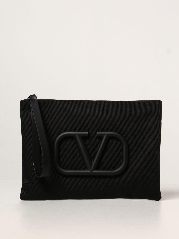 Portadocumenti Valentino Garavani: Pochette Valentino Garavani con VLogo Signature nero 1