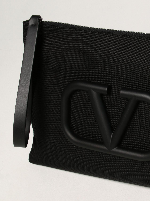Portadocumenti Valentino Garavani: Pochette Valentino Garavani con VLogo Signature nero 4