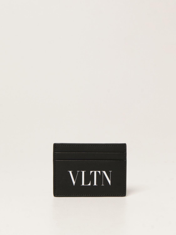Portafoglio Valentino Garavani: Porta carte di credito Valentino Garavani con stampa VLTN nero 1