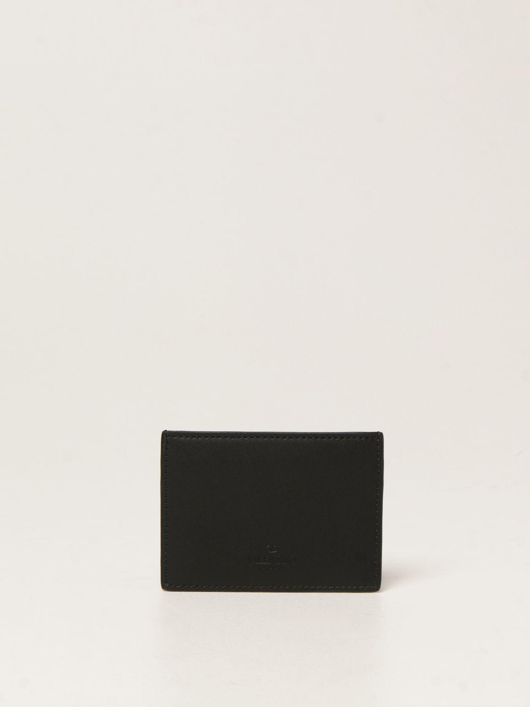 Portafoglio Valentino Garavani: Porta carte di credito Valentino Garavani con stampa VLTN nero 2
