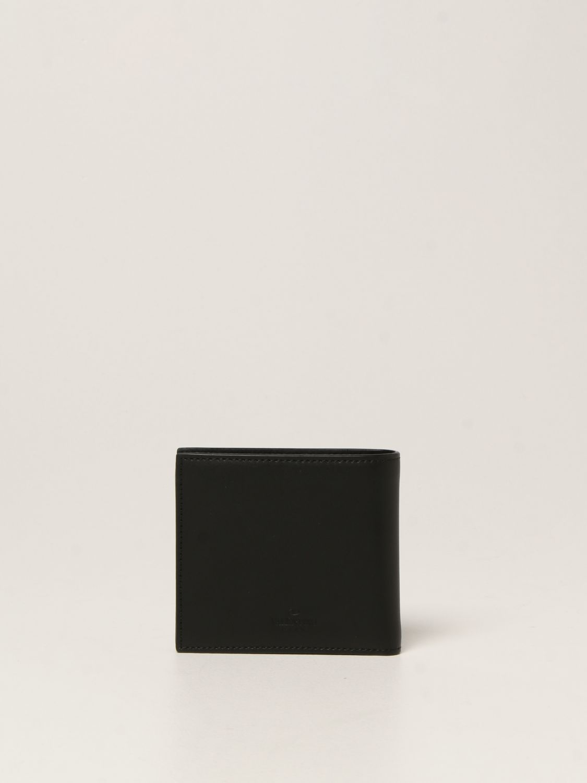Portafoglio Valentino Garavani: Portafoglio Valentino Garavani in pelle con logo VLTN nero 3