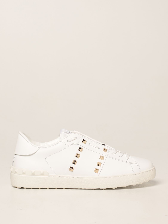 Sneakers Valentino Garavani: Sneakers Rockstud Untitled Valentino Garavani in pelle bianco 1
