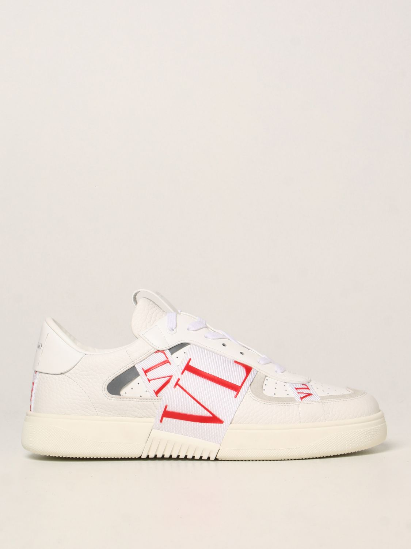 Sneakers Valentino Garavani: Sneakers Valentino Garavani in pelle con logo VLTN bianco 1